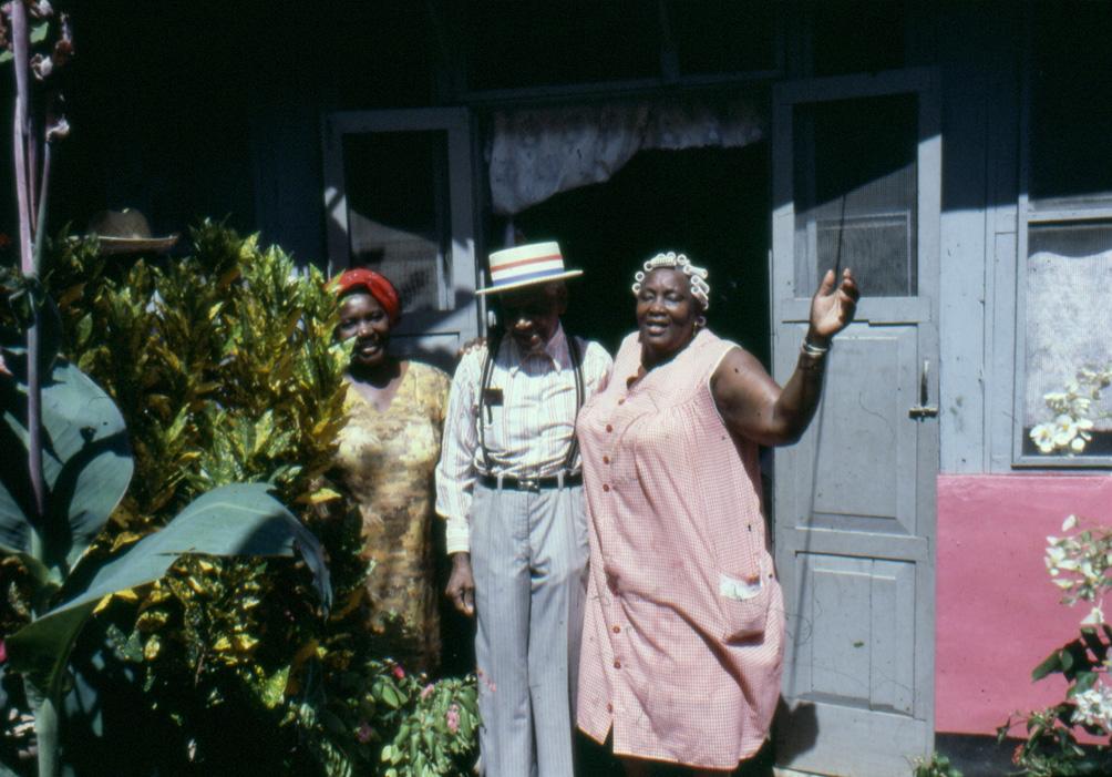 Mr. Griffin with Stella, El Callao, Venezuela, 1975. Image: Oswaldo Lares