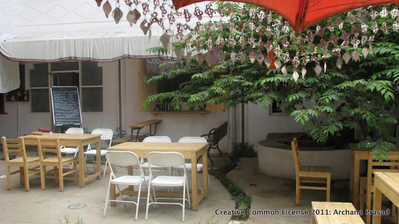Courtyard cafe