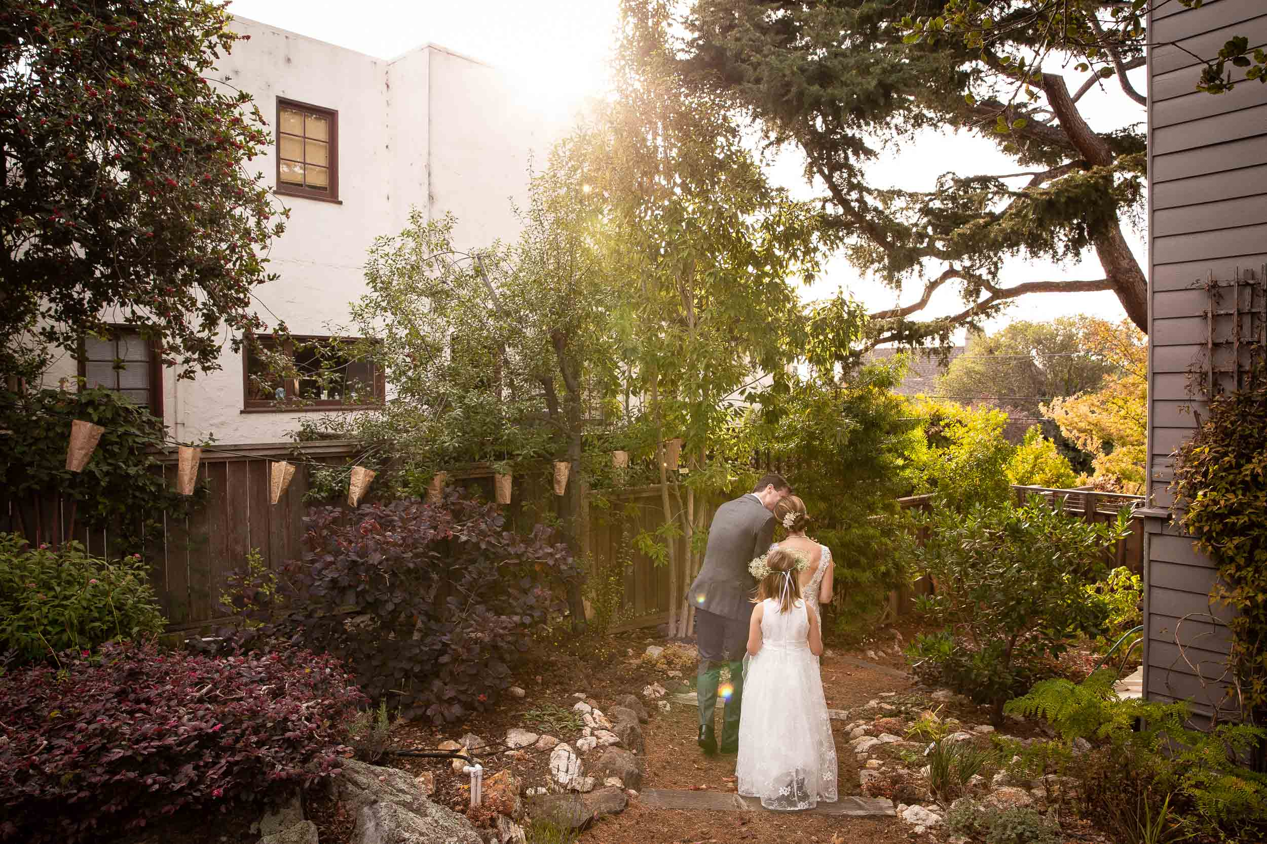 Small Berkeley Wedding in Backyard