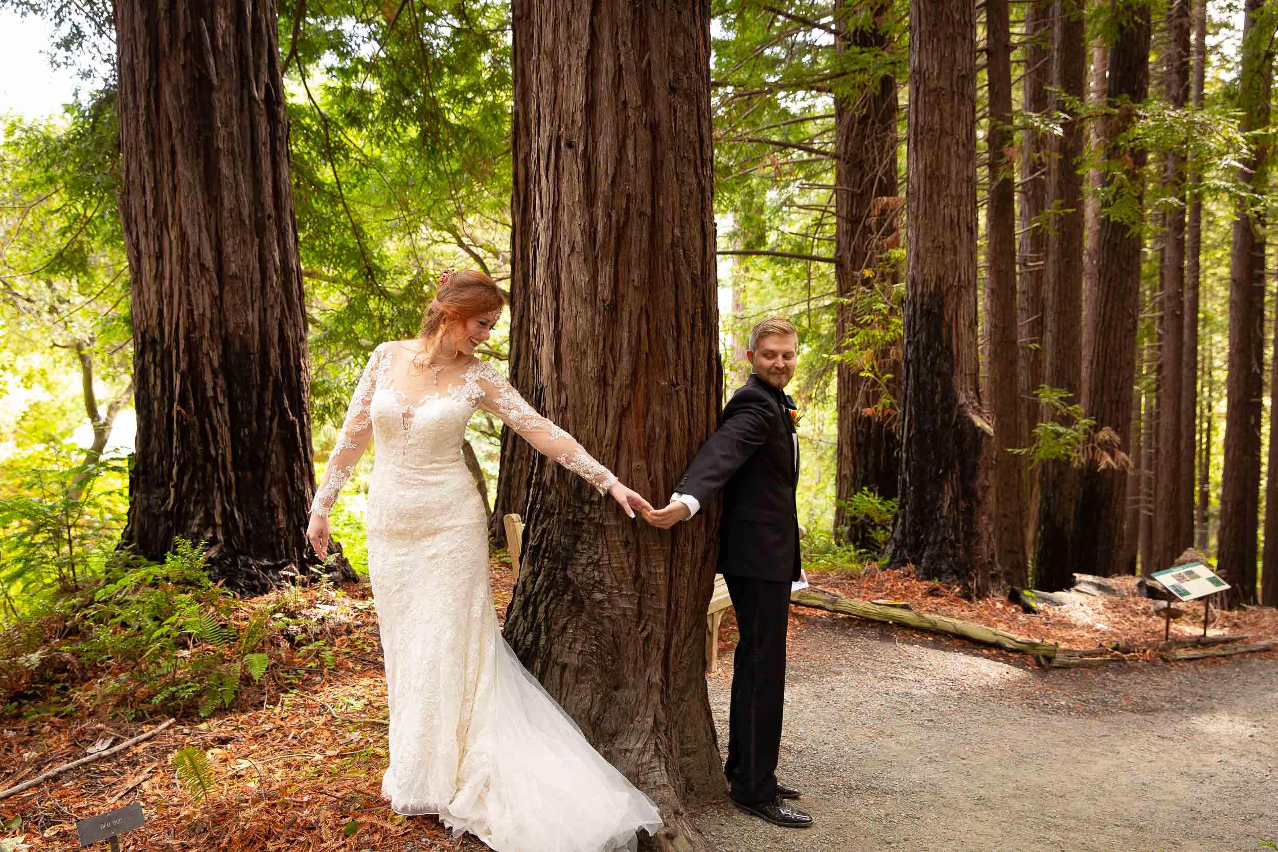 Berkeley Botanical Garden Wedding Ceremony in the Redwood Grove Ceremony and SF Bay Wedding Cruise Reception-21.jpg