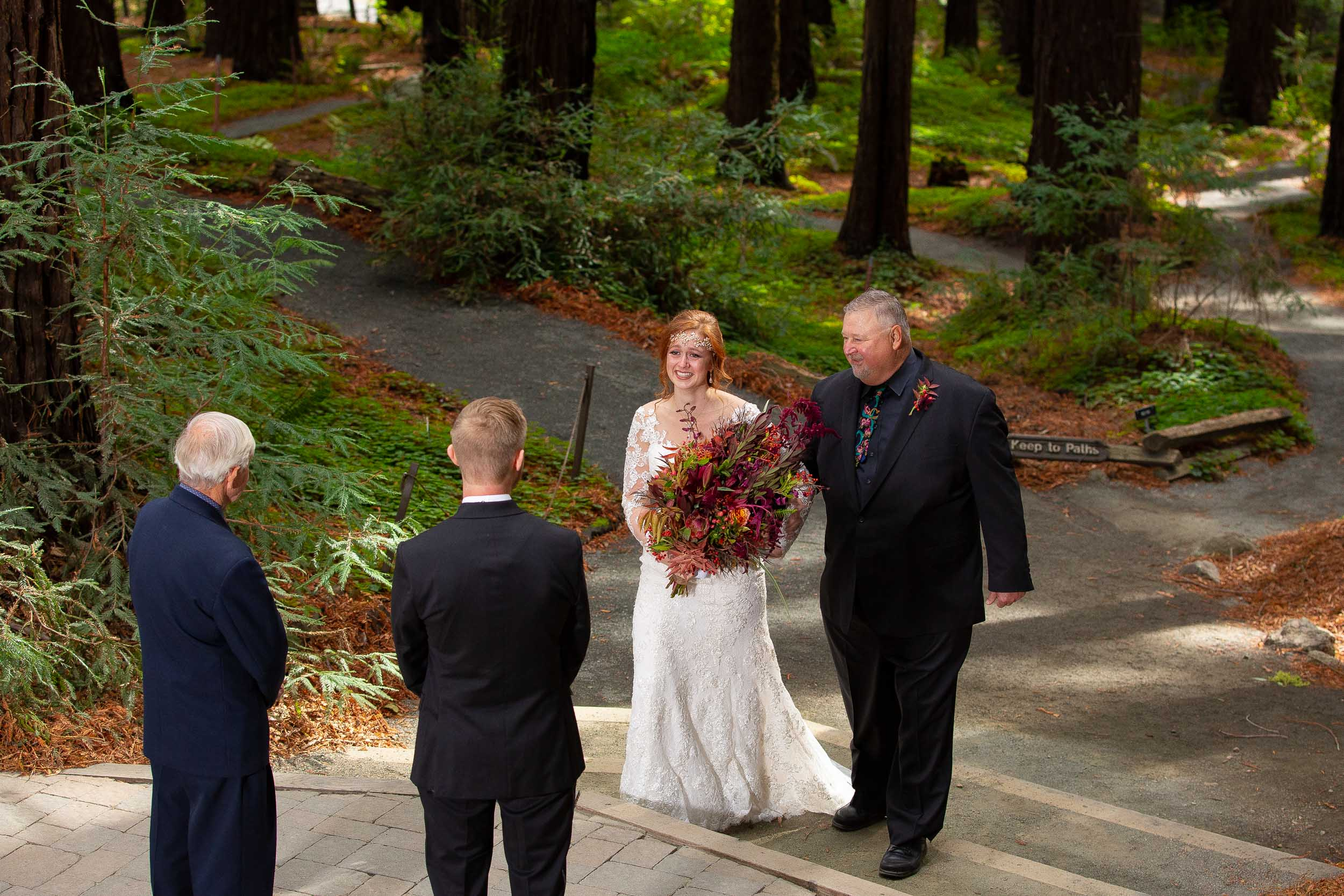Berkeley Botanical Garden Wedding Ceremony in the Redwood Grove Ceremony and SF Bay Wedding Cruise Reception-30.jpg