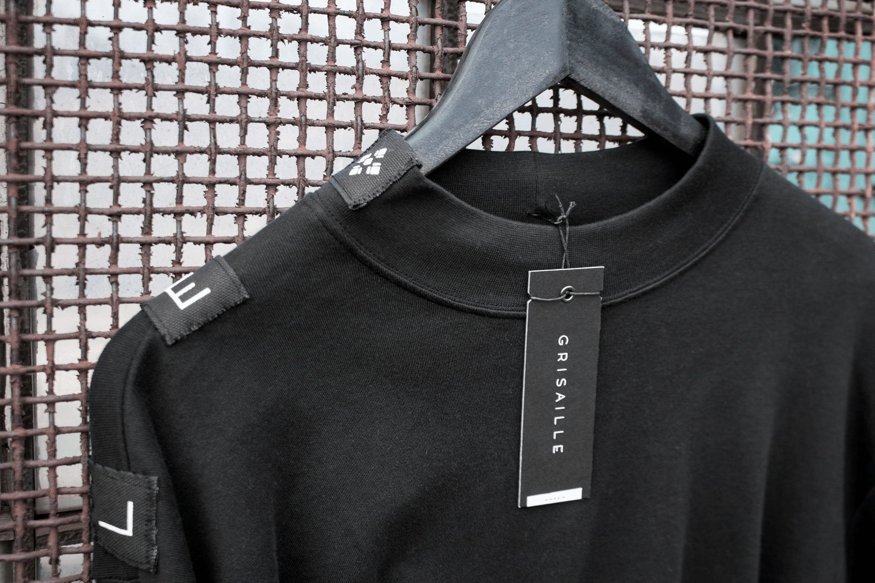 PATCHED MOCK NECK