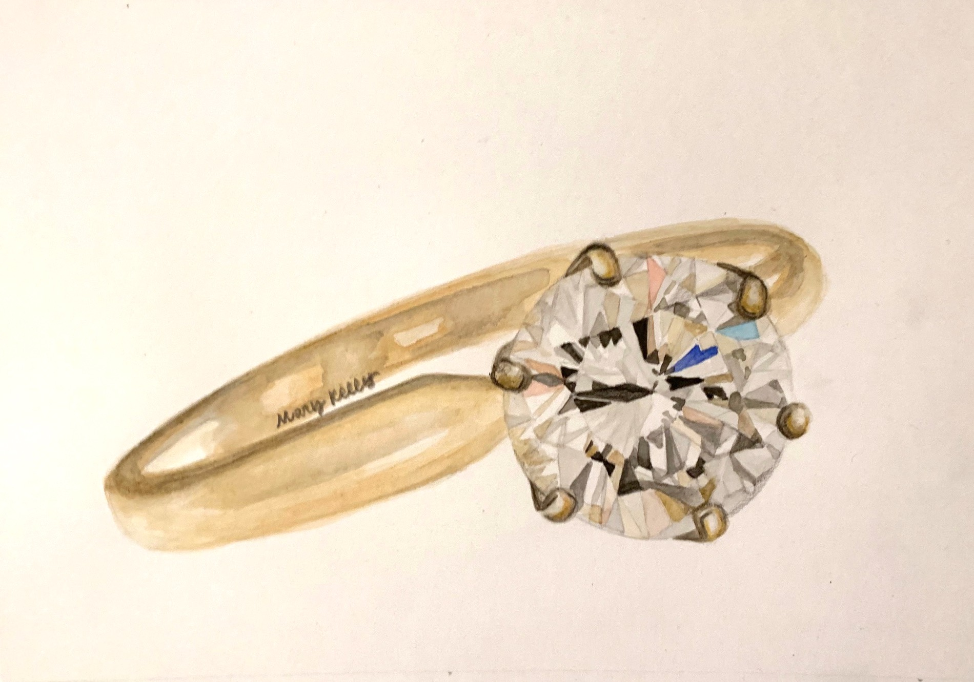 round diamond ring, © 2019 marykellydesigns