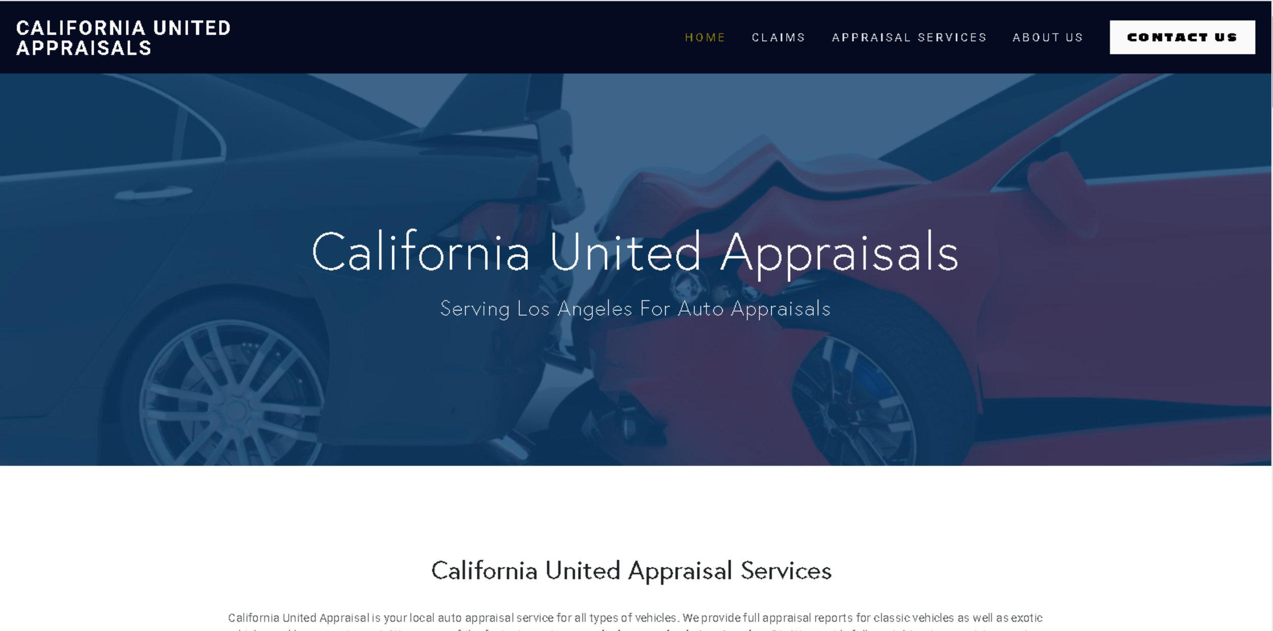 California United Appraisals - Website