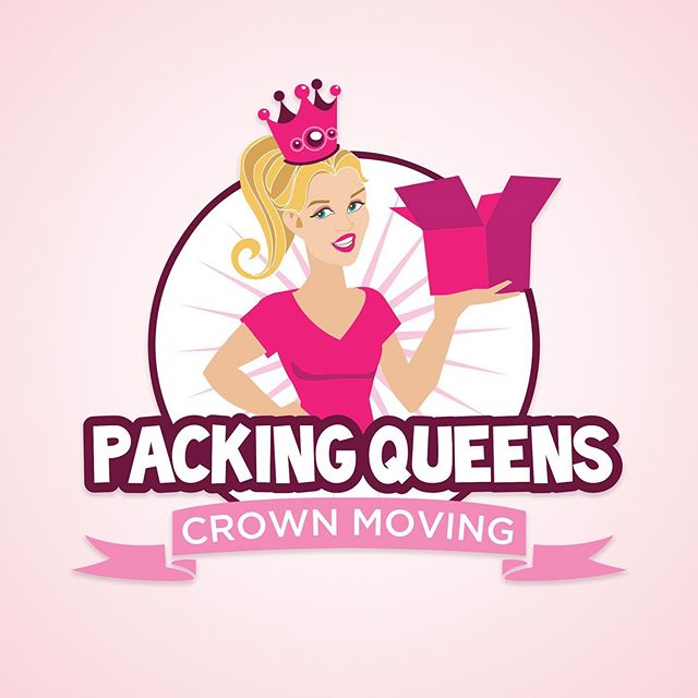 New logo, new style, Packing Queens packing service, a subsidiary of Crown Moving. #logodesign #characters #branding #cartoon #digitalart