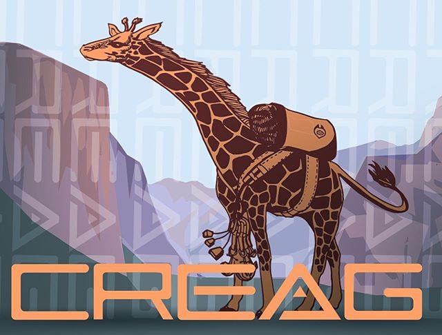 Another sticker design for @creagwear. Introducing Bigwall Yosemite Giraffe. #stickerdesign #branding #marketingdesign #outdoorindustry #created at #cactusbeardesign #illustration #illustratorsoninstagram #smallbusiness #giraffes #digitalillustration  #creagwear #bouldercolorado #denverdigitaldesign