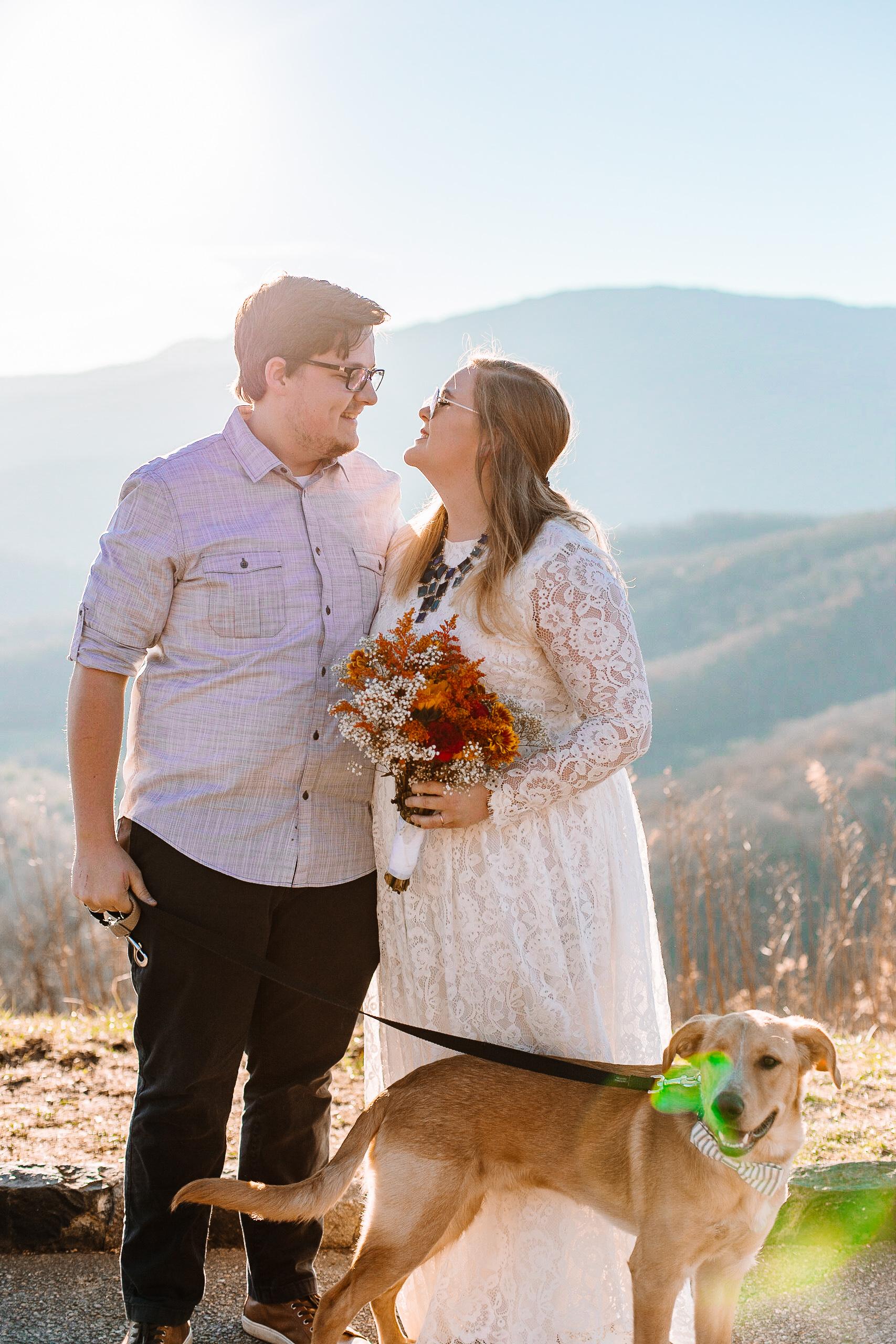 North Carolina Blue Ridge Parkway Wedding -
