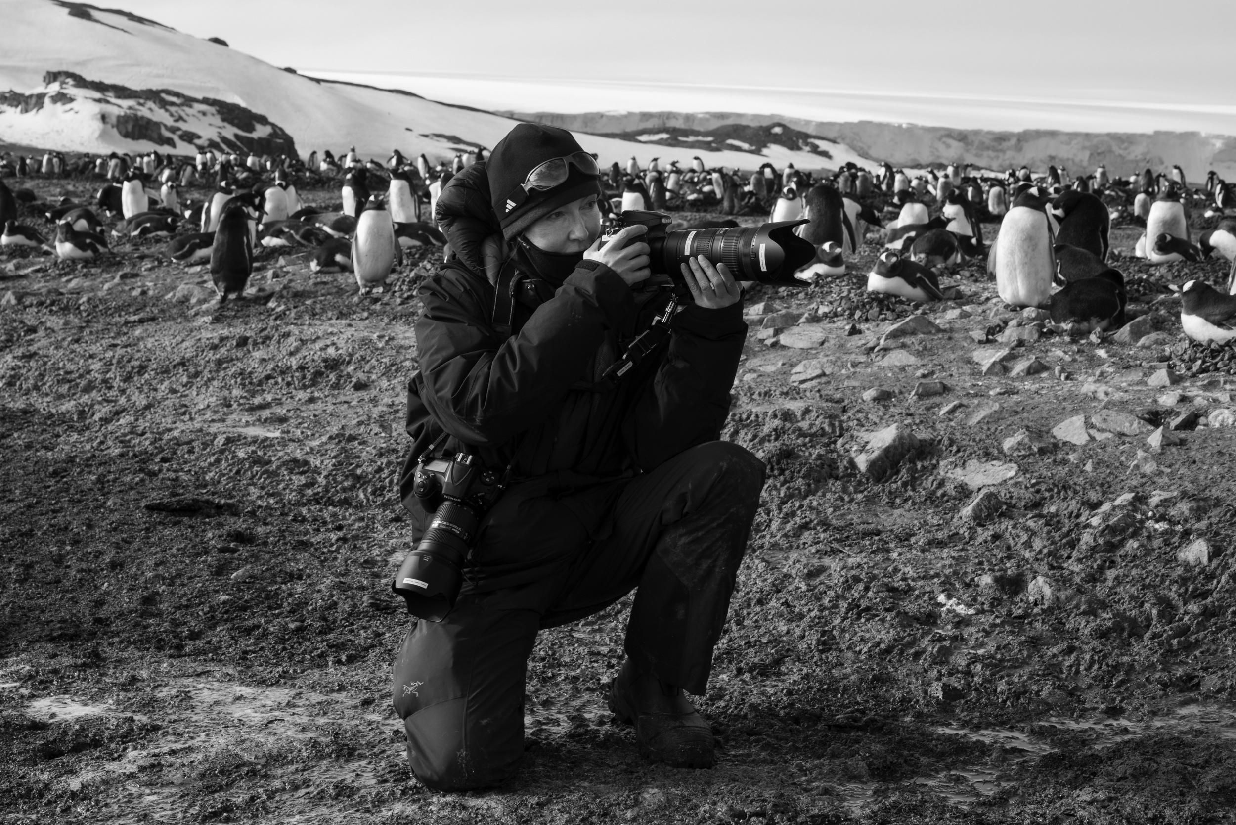 Dawna Mueller in der Antarktis