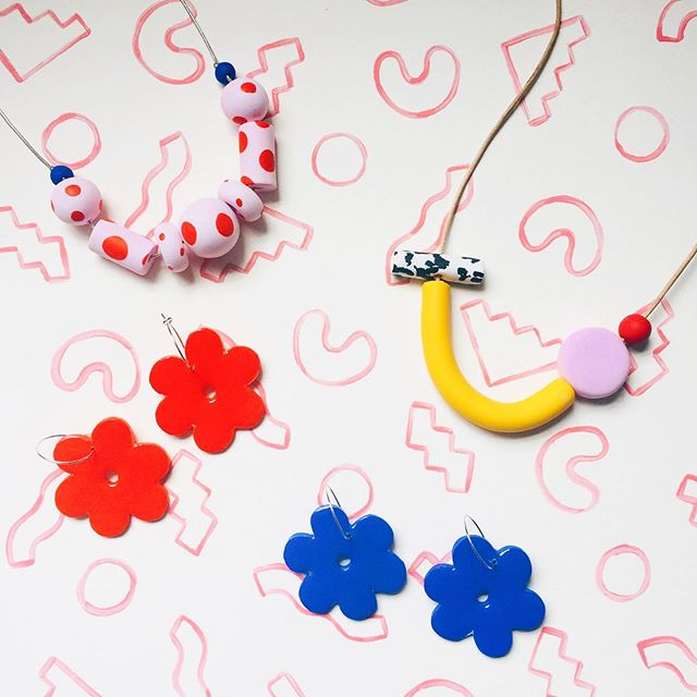 From the curator collection 👩‍🎨🎨 . . . #handmadejewelry #handcrafted #designermaker #shopsmall #makersmovement #wearableart #makersofinstagram #jewelrydesign #slowmade #shopindependent #indiemaker #minimalstyle #artinspiration #designinspiration #colours #inspiration #yayoikusama #ettoresottsass #andywarhol