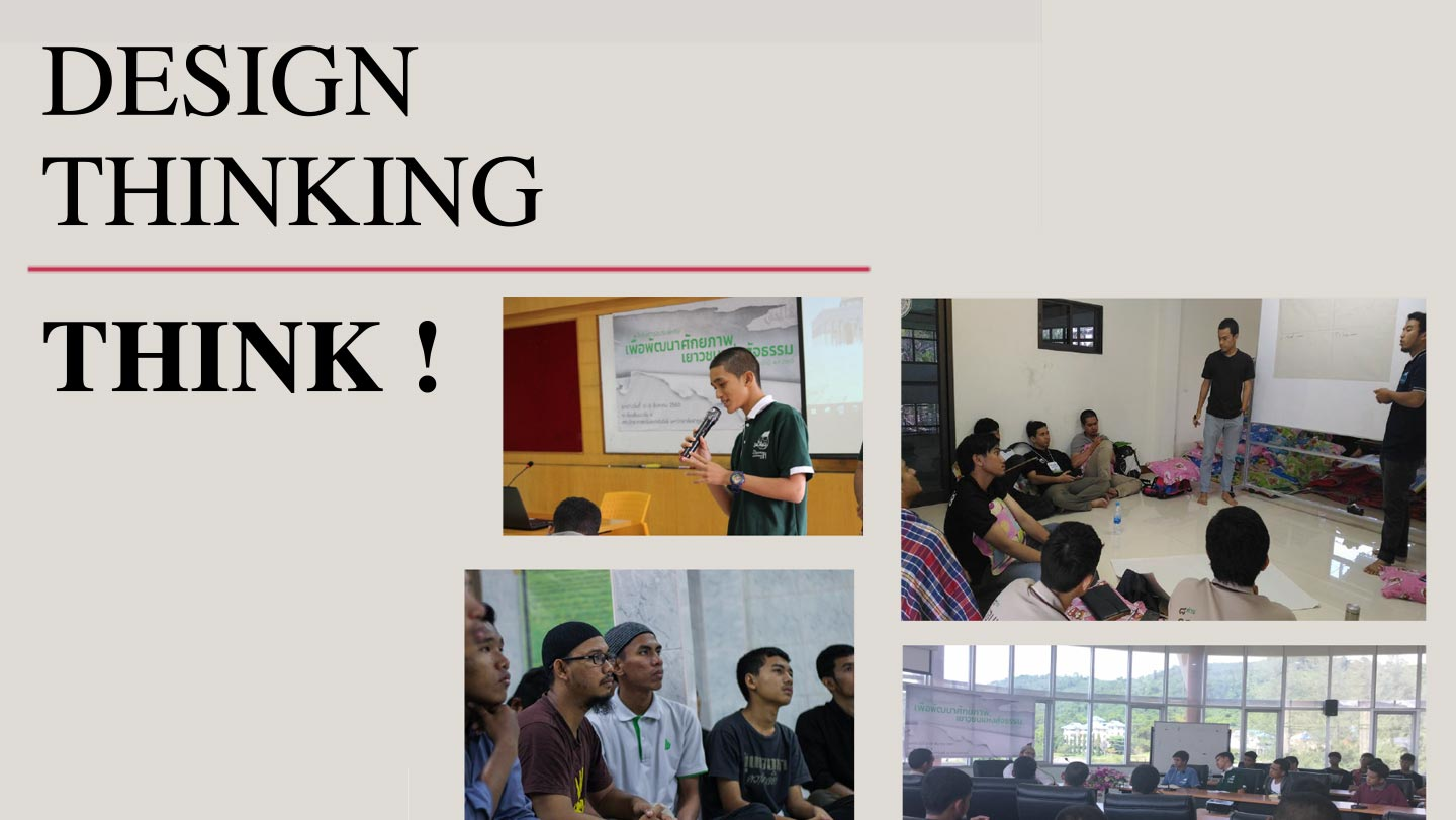 Think! A training to help youth learn d.thinking so they can also make critical choices in life