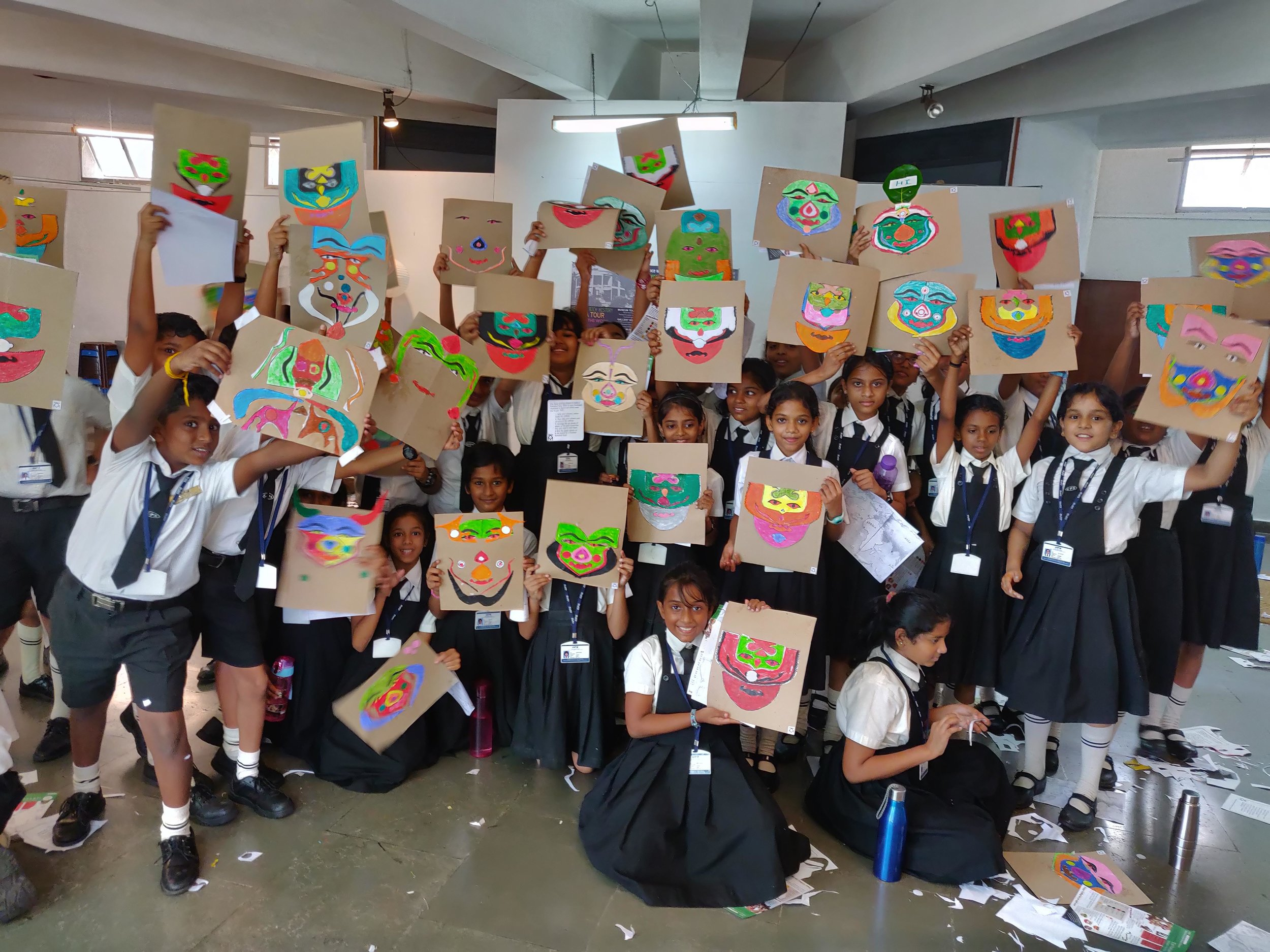 With a sense of creativity and play that was just mind-blowing, these 11 year olds took the Kathakali worksheet to the next level.