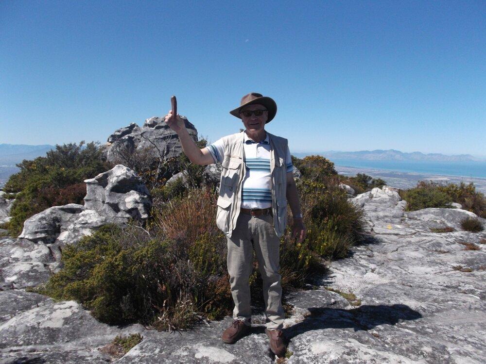 Noch ein Würstchen auf dem Tafelberg.