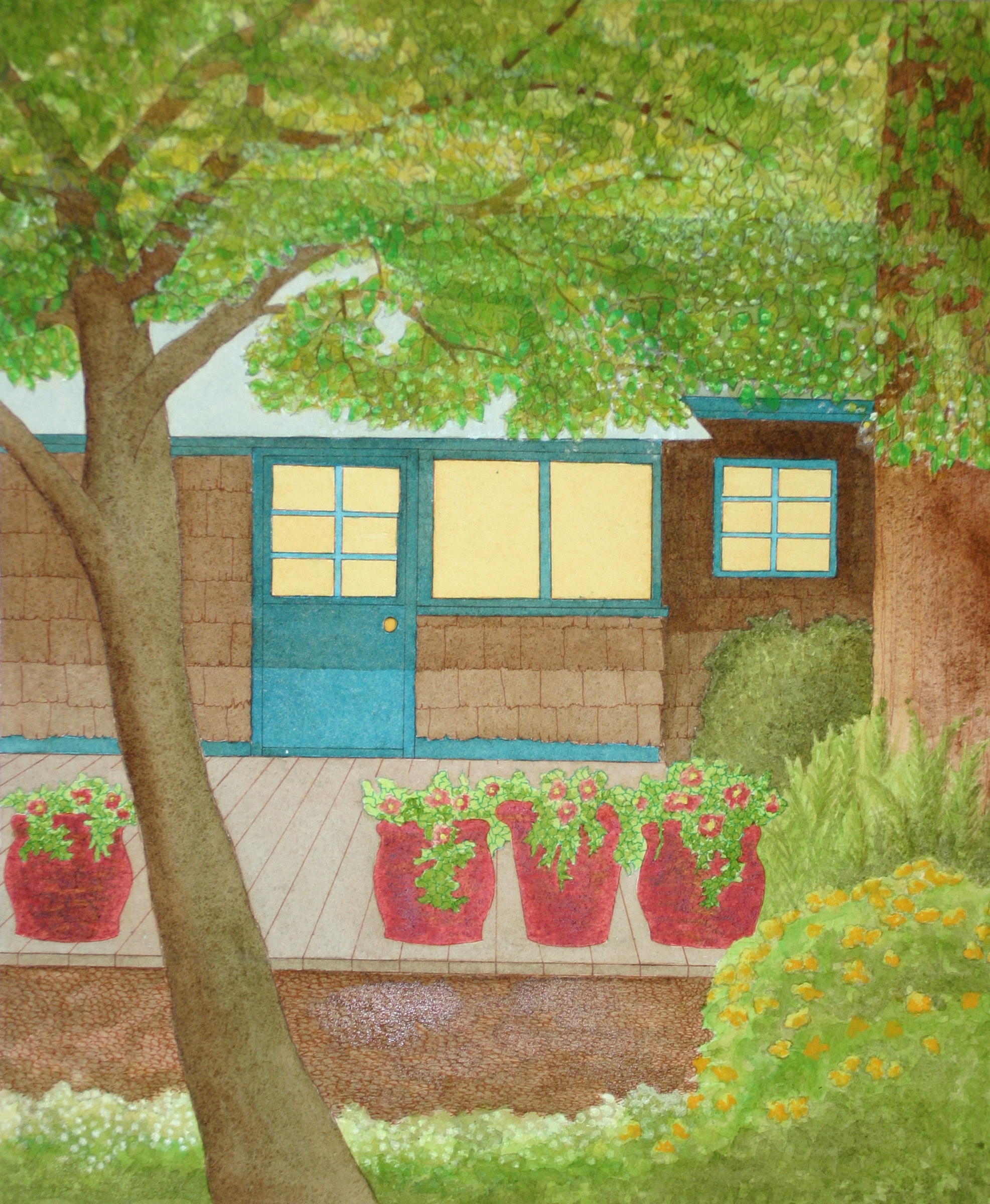 PAINTING BY Molly Milligan......ca 2012   Over the years the cottage turned into what it is today......A place to share with you.
