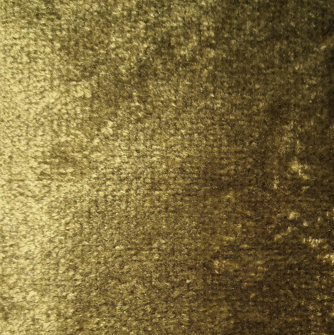 gold crushed velvet - £34 per meter inc VATContact us to request a swatch. Stock cuttings and shipping costs can be supplied upon request.Due to monitor variations colour may vary.Colour: GoldFabric type: Crushed VelvetComposition: 55% Cotton 45% ViscoseWidth: 140cmSpecialist dry clean only.