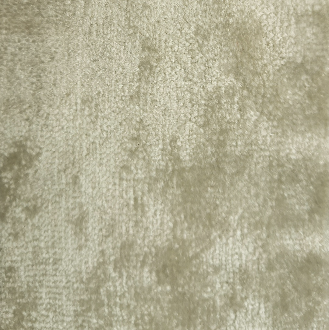 ECRU CRUSHED VELVET - £34 per meter inc VATContact us to request a swatch. Stock cuttings and shipping costs can be supplied upon request.Due to monitor variations colour may vary.Colour: EcruFabric type: Crushed VelvetComposition: 55% Cotton 45% ViscoseWidth: 140cmSpecialist dry clean only.