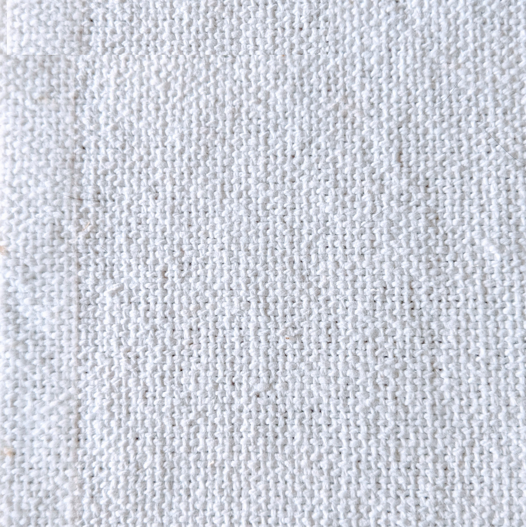 rustic cotton - £26 per meter inc VATContact us to request a swatch. Stock cuttings and shipping costs can be supplied upon request.Due to monitor variations colour may vary.Colour: WhiteFabric type: Rustic CottonComposition: 100% Cotton Width: 140cmSpecialist dry clean only.