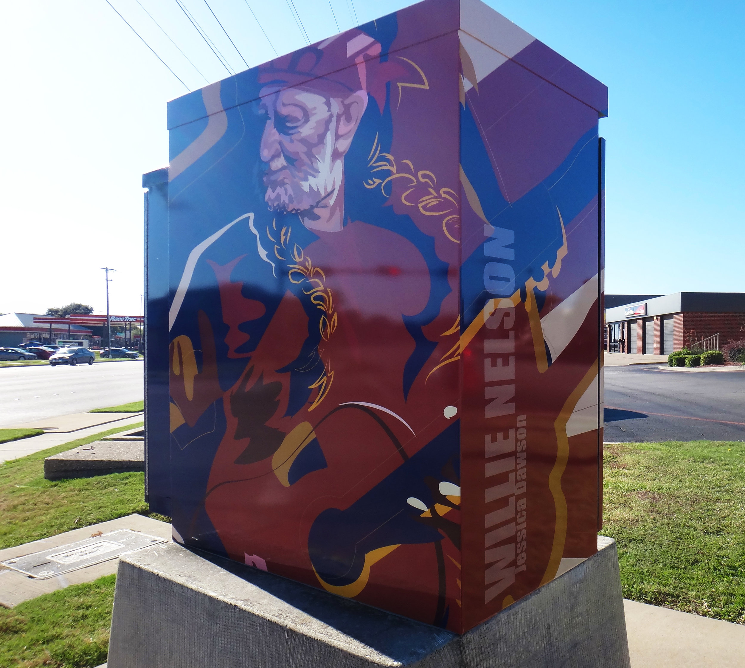 Willie Nelson. Located in North Richland Hills, TX. on Rufe Snow Dr. and Iron Horse Blvd. 2016.