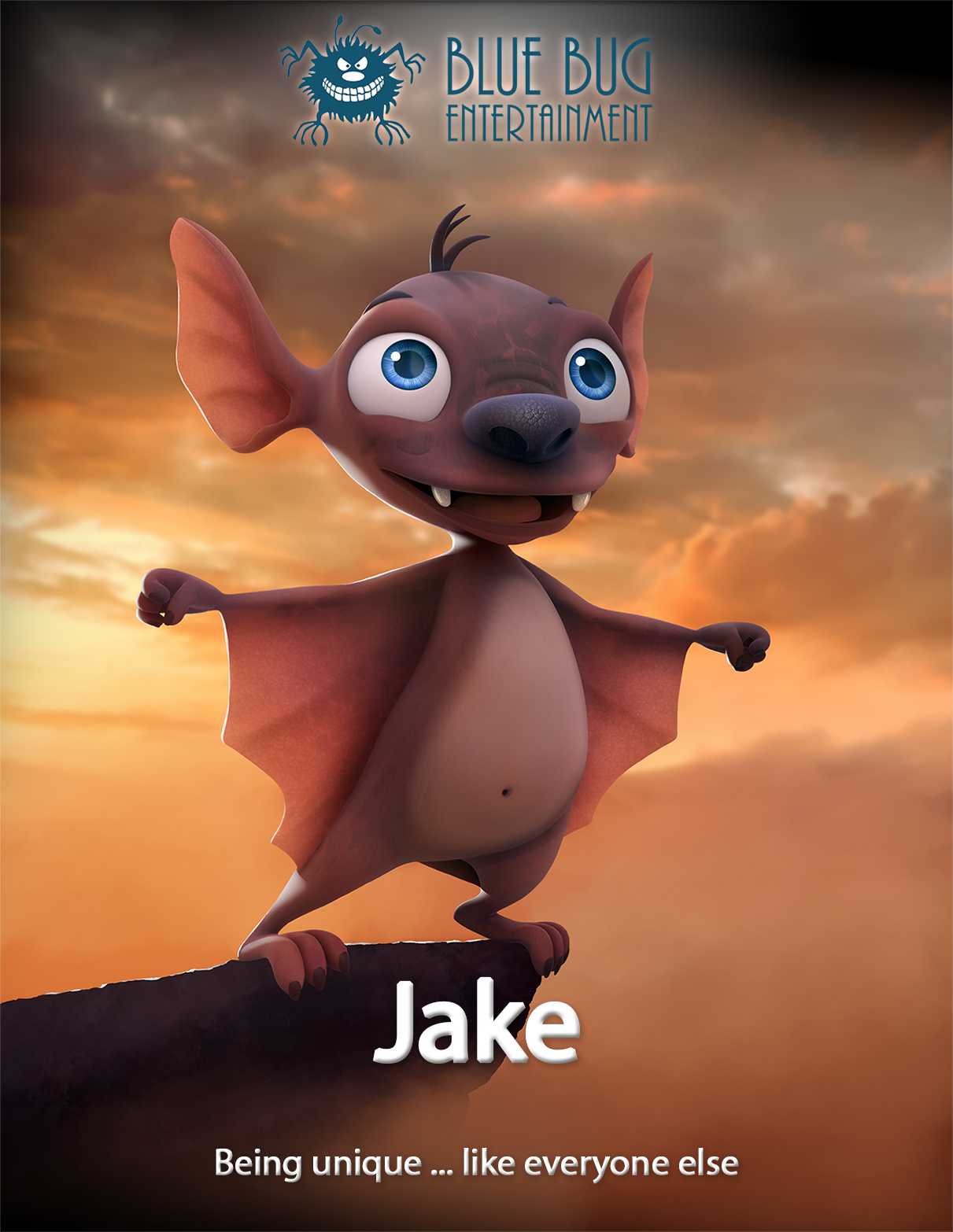 Jake is Unique like Everyone else - A defective gene has made Jake very different from other bats; diurnal, he prefers hunting during the day and unlike his fellow bats, he does not hibernate. Lost in a foreign country, these rare and unusual characteristics, which were considered a disability in his own colony, will help him become a hero to his new friends. Still, family ties are always there to remind us we should never forget where we come from.
