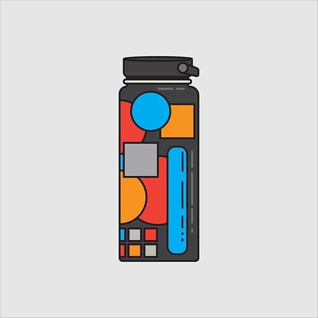 ladiez and gentz a self portrait of my water bottle been dabbling in illustrator more