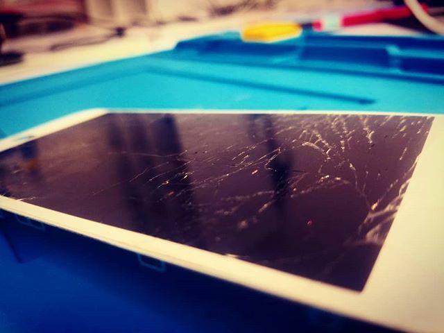 Cracked glass? We can fix it. #brokeniphone #phonerepair #tulsa #gadgetpro