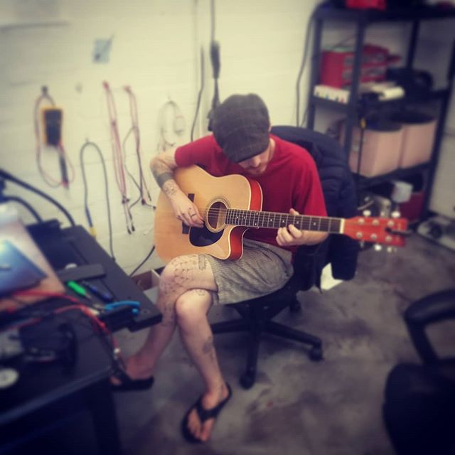 Impromptu jam session in the shop today. Come by and maybe Kyle will play something for you. #phonerepair #brokenphone #jenks #sandsprings #sapulpa #tulsa #gadgetpro