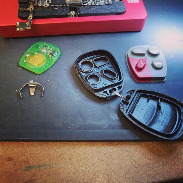 We can fix car remotes! #keyfob #electronicsrepair #tulsa #bixby #jenks #owasso #brokenarrow #gadgetpro