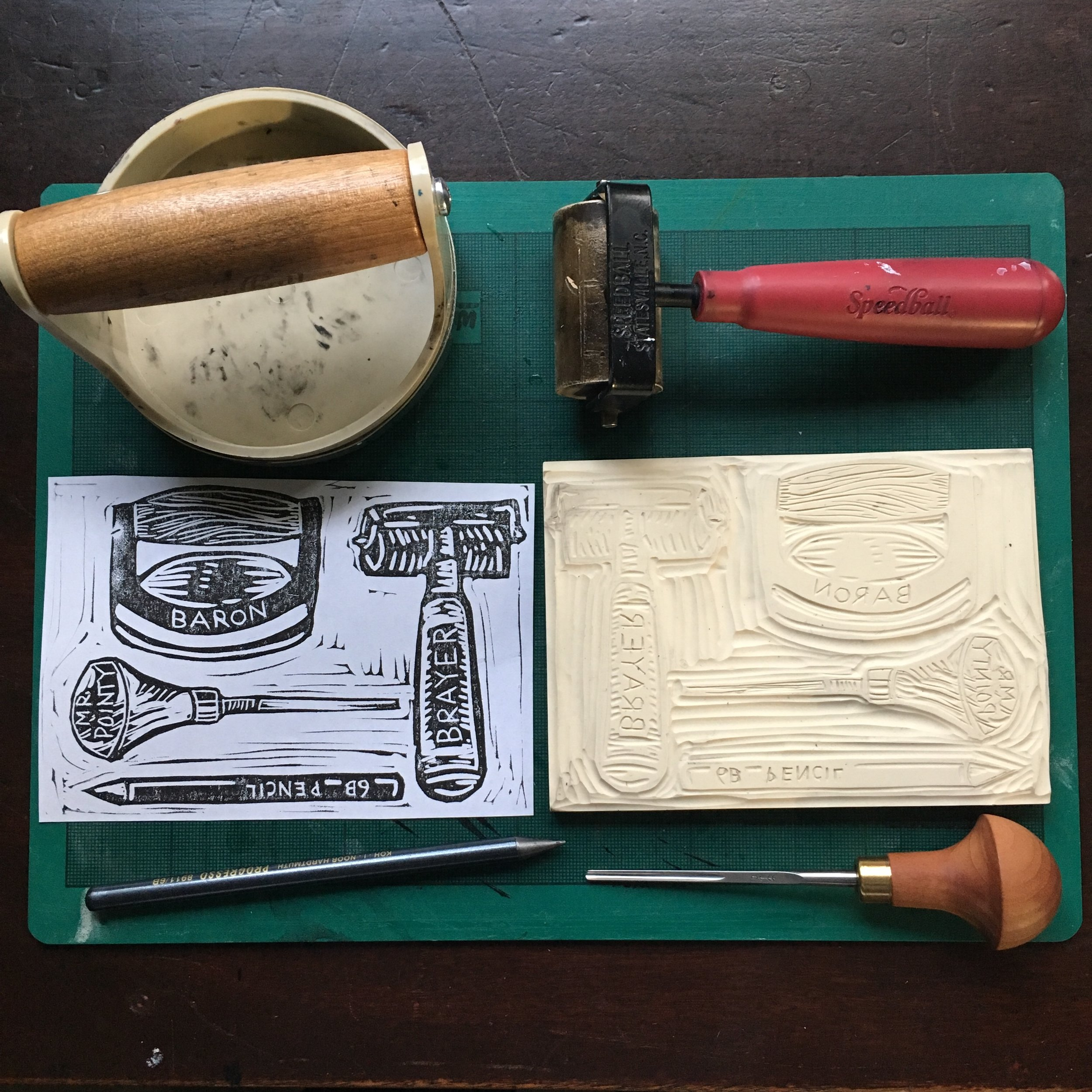 Carve Out Your Place! A block printing workshop with Molly Gray. Available for 13+.