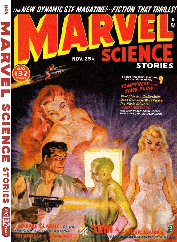 Marvel Science 1950 Temptress of the Time Flow Gardner F Fox.JPG