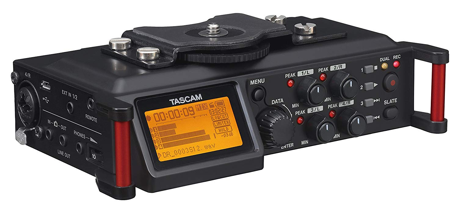 Tascam DR-70D, our recorder of choice. Click image for Amazon link.