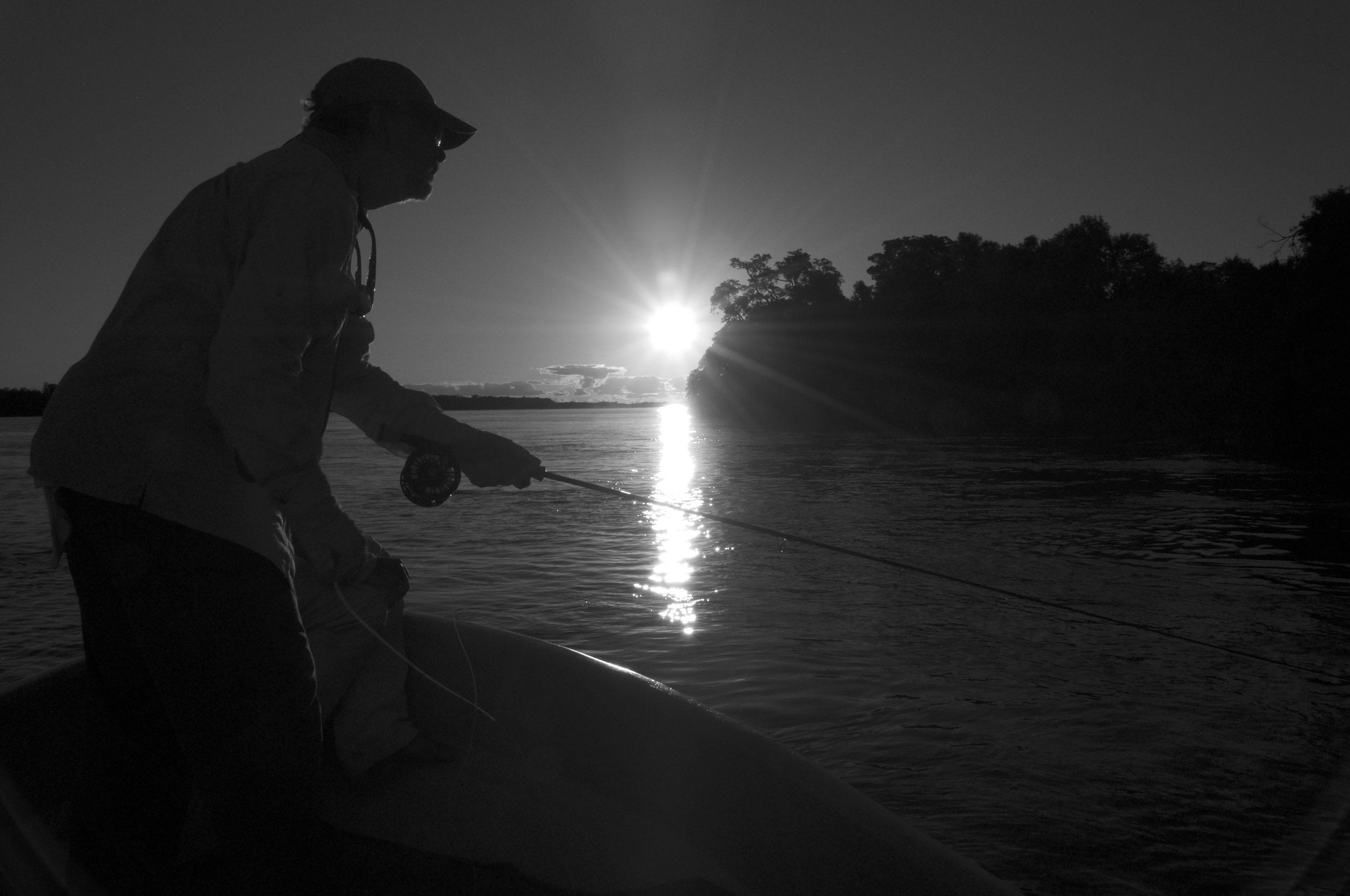 Fly Fishing the Parana River on the Paraguay/Argentine border near Brazil.