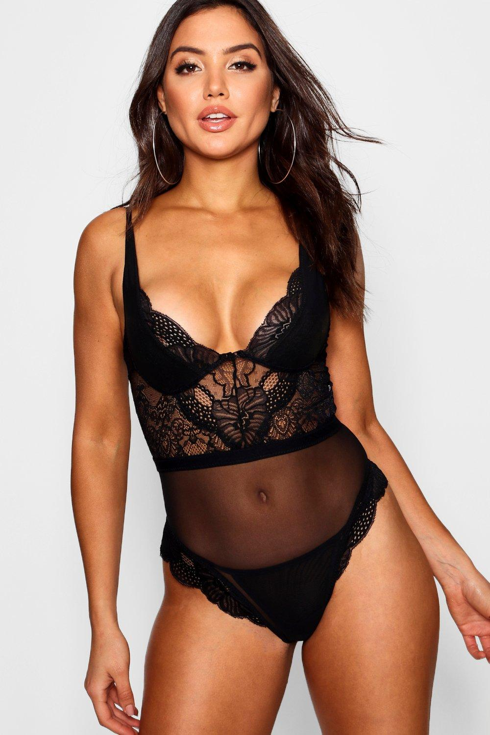 Boohoo, lace body, £18.00