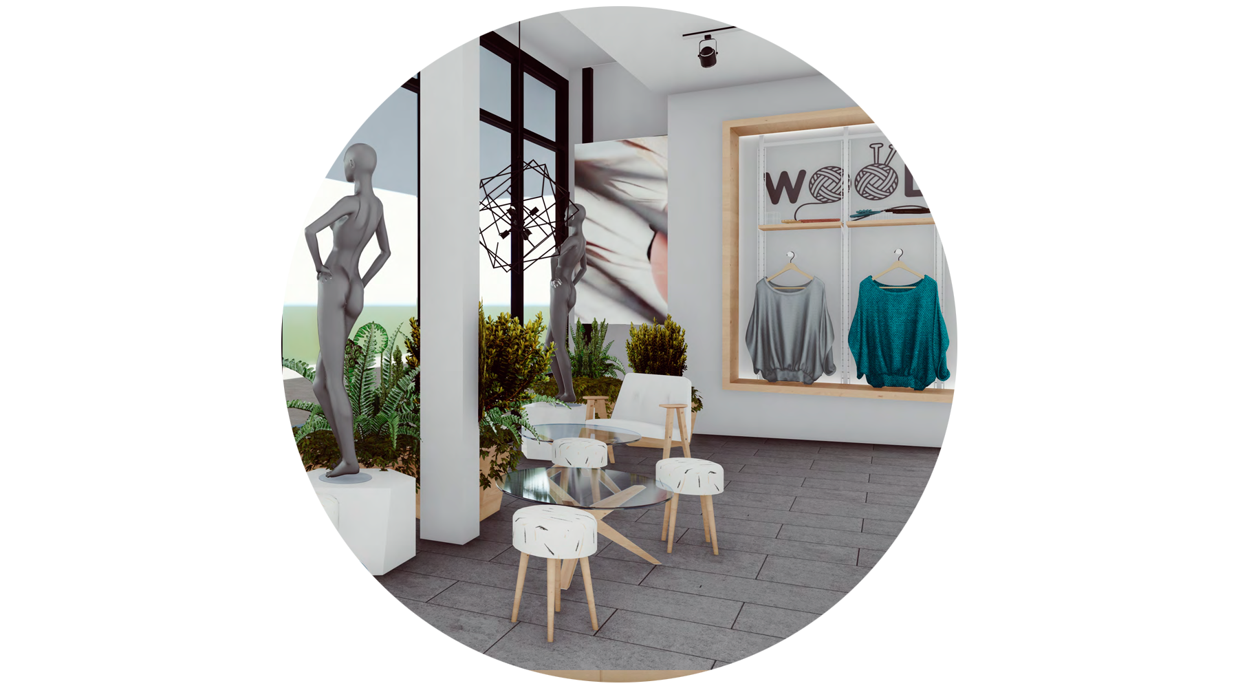 - Fully-Featured StoresOur comfortable and inviting stores create the perfect environment to showcase your brand and products. Stores feature a good lighting, dressing rooms, seating, and even a café at the center.
