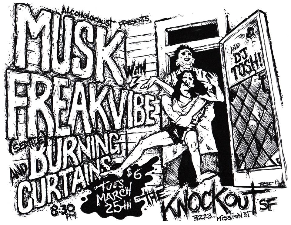 Musk-Freakvibe-BurningCurtains-DJTosh-TheKnockout-2014-Poster-Flyer-RobFletcher