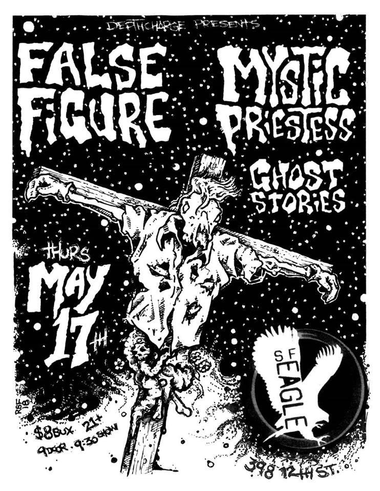 falsefigure-mysticpriestess-ghoststories-poster-flyer-artwork-robfletcher-sfeagle-2018