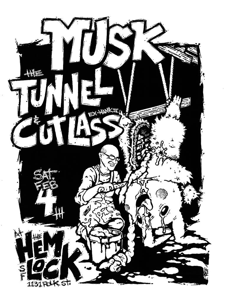musk-tunnel-cutlass-pokemon-pikachu-noiserock-poster-flyer-artwork-robfletcher-thehemlock-2017