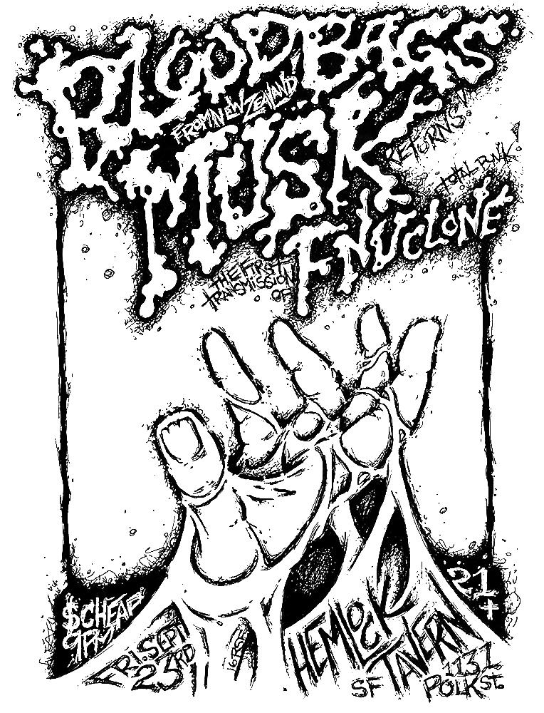 bloodbags-musk-fnuclone-poster-flyer-artwork-robfletcher-hemlocktavern-2016