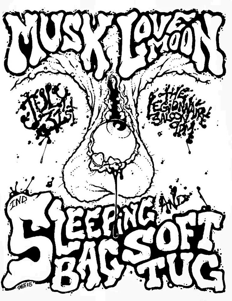 musk-lovemoon-sleepingbag-softtug-noiserock-poster-flyer-artwork-robfletcher-legionnairesaloon-2015