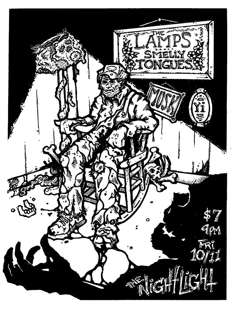 lamps-musk-smellytongues-noiserock-poster-flyer-artwork-robfletcher-edgein-texaschainsawmassacre-thenightlight-2013