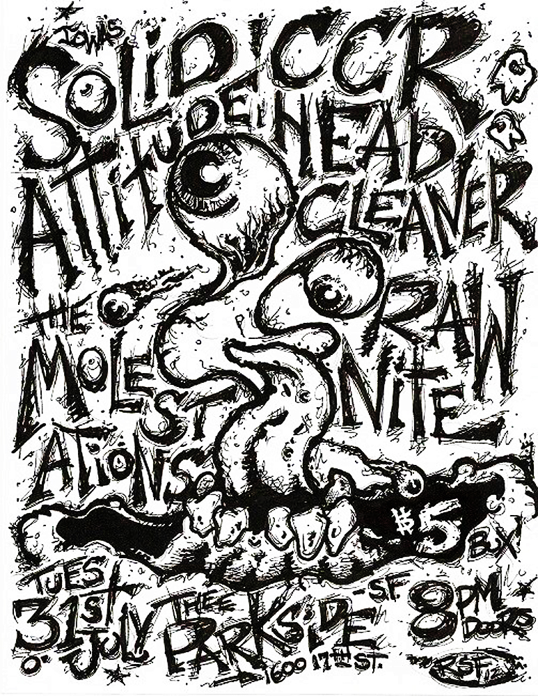 ccrheadcleaner-rawnite-molestations-noiserock-poster-flyer-artwork-robfletcher-theparkside-2012