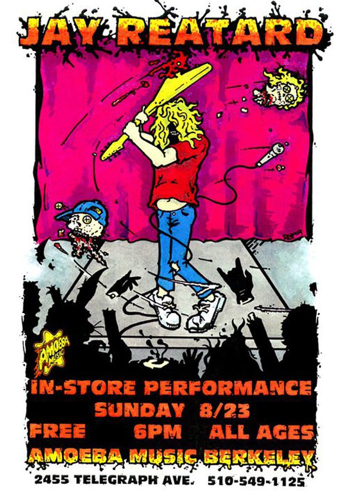 jayreatard-live-amoeba-records-instore-garage-poster-flyer-artwork-robfletcher-berkeley-2009