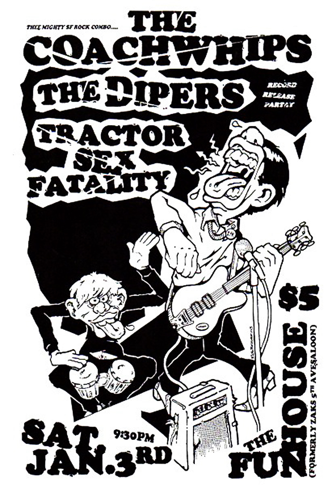 coachwhips-johndwyer-ohsees-garage-tractorsexfatality-poster-flyer-artwork-robfletcher-funhouse-2004