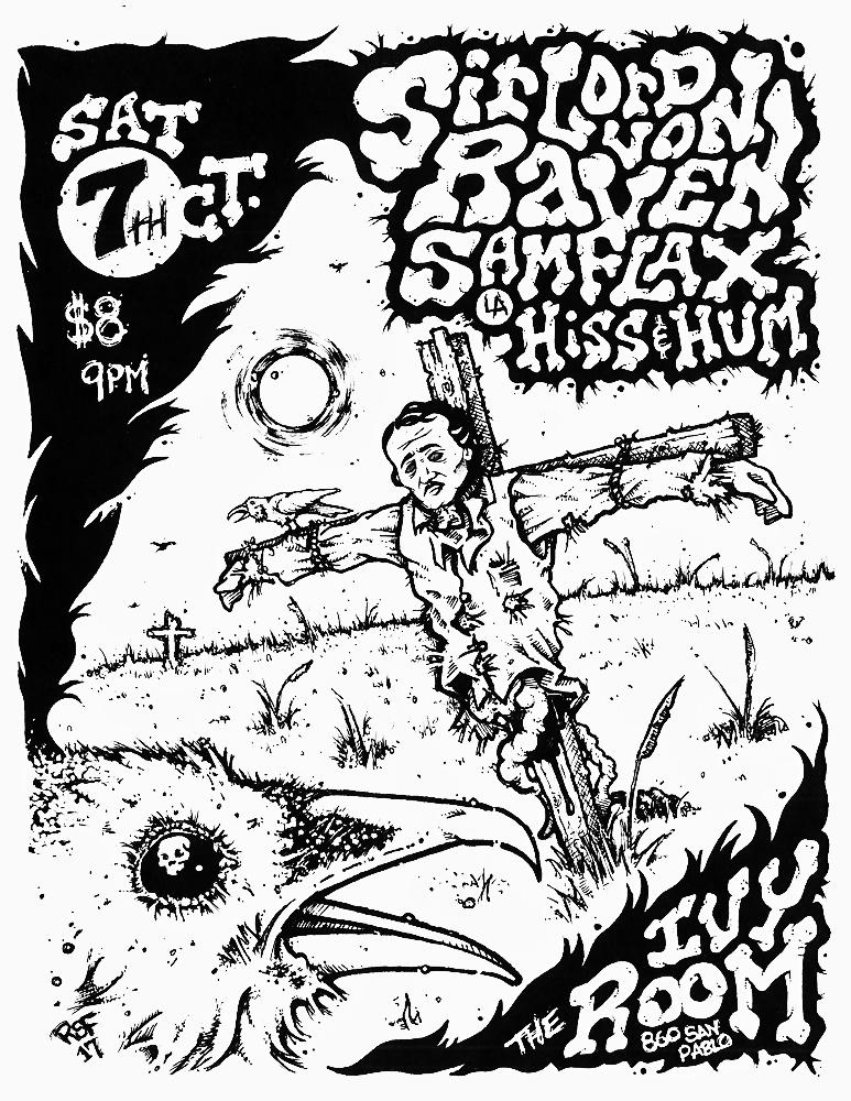 sirlordvonraven-samflax-hissandhum-poster-flyer-artwork-robfletcher-ivyroom-2017