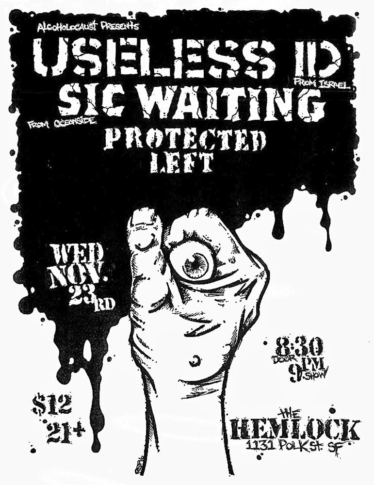 UselessID-SicWaiting-ProtectedLeft-TheHemlock-2016-Poster-Flyer-RobFletcher