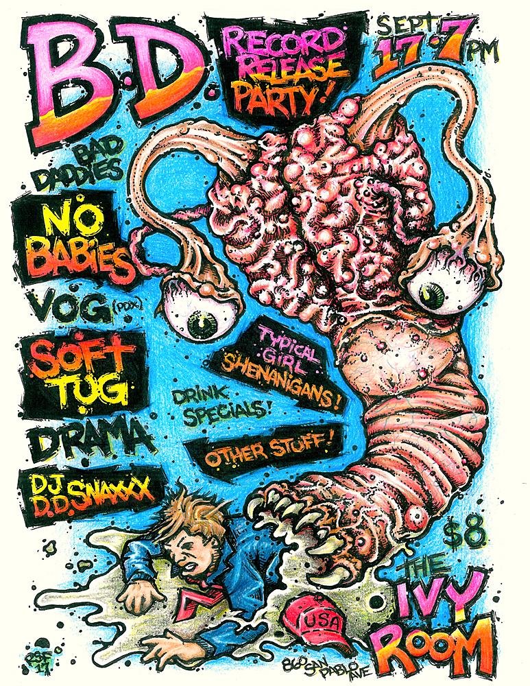 BadDaddiesRecordReleaseParty-NoBabies-VOG-SoftTug-Drama-DJSnaxxx-IvyRoom-2017-Poster-Flyer-RobFletcher