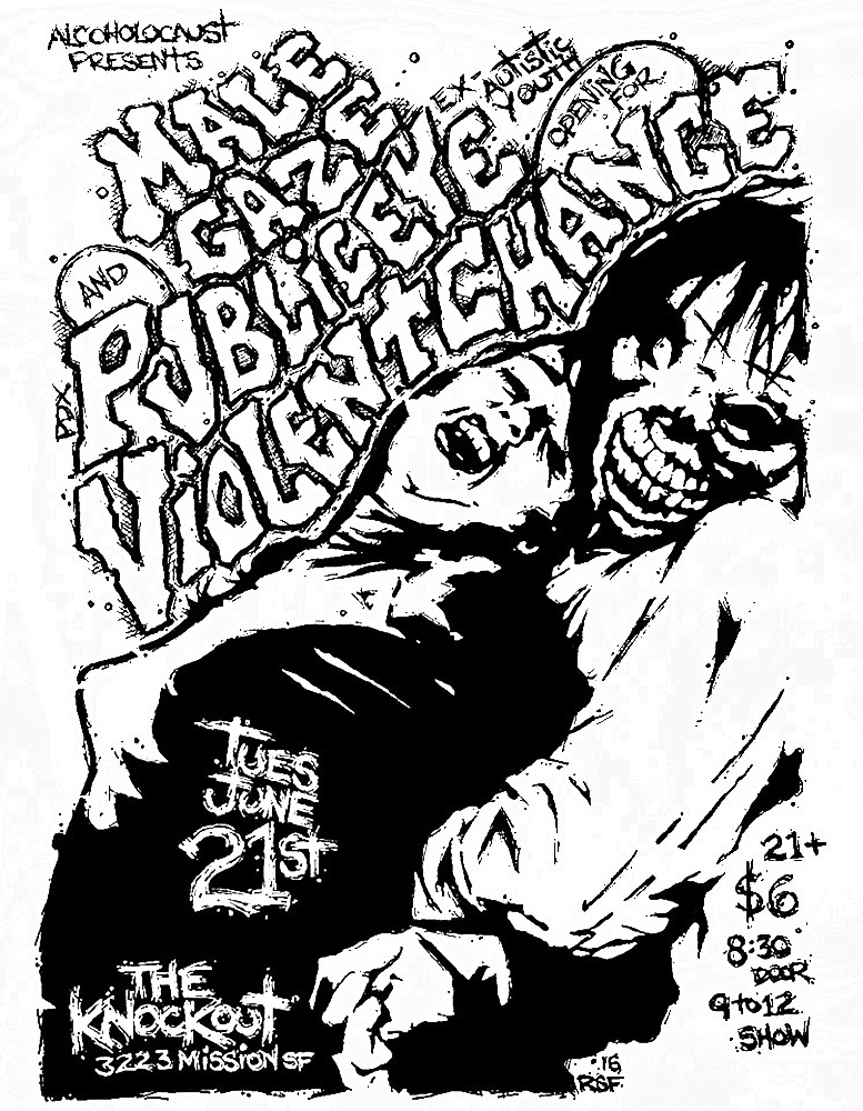 malegaze-violentchange-publiceye-poster-flyer-artwork-robfletcher-theknockout-2016