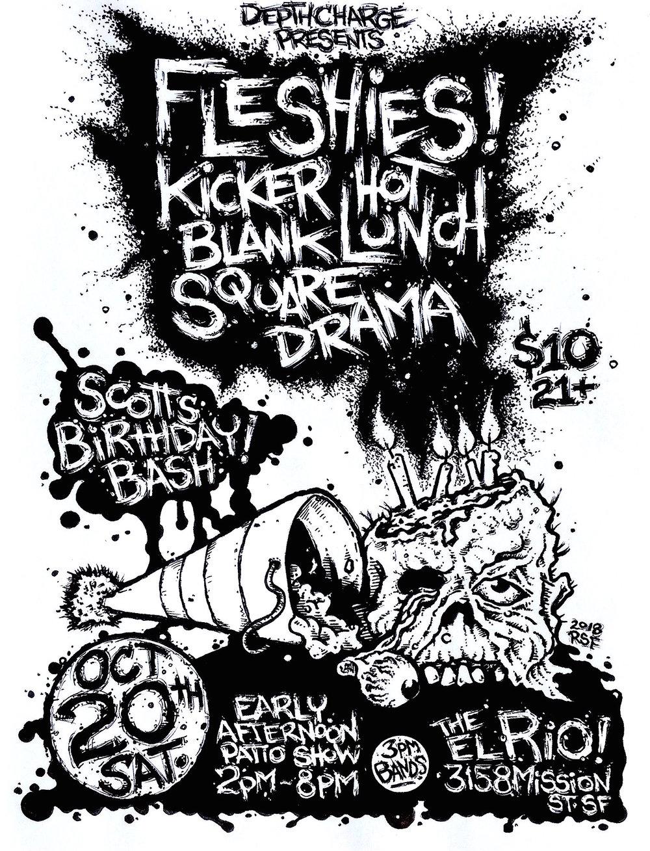 fleshies-kicker-hotlunch-blanksquare-drama-poster-flyer-artwork-robfletcher-ElRio-2018