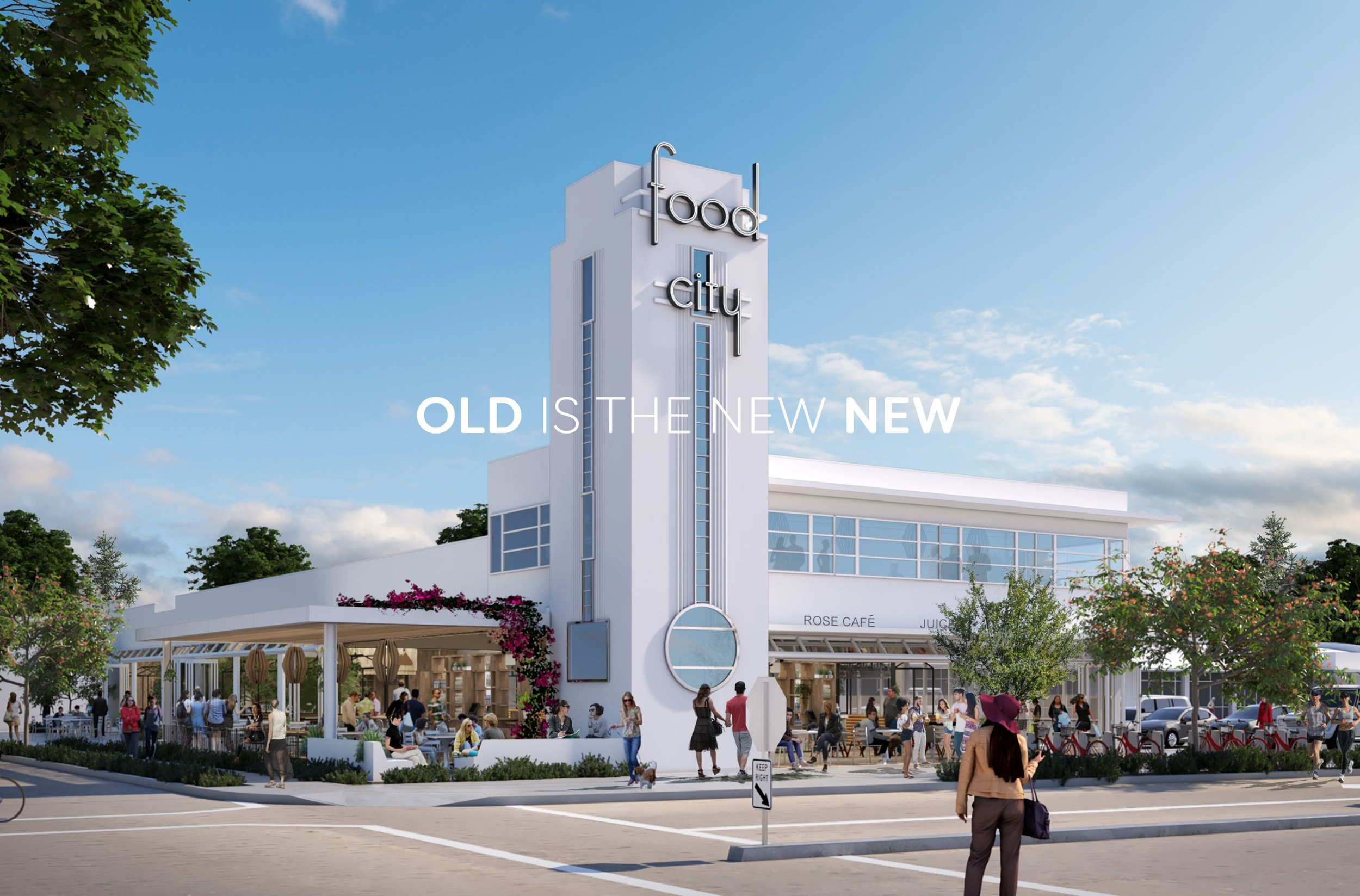 Conceptual Design of Historic Food City Building at the intersection at Old Sonoma Road and Jefferson St in Napa, CA.  This image provided as a courtesy by Brooks-Street LLC and Grub LLC.