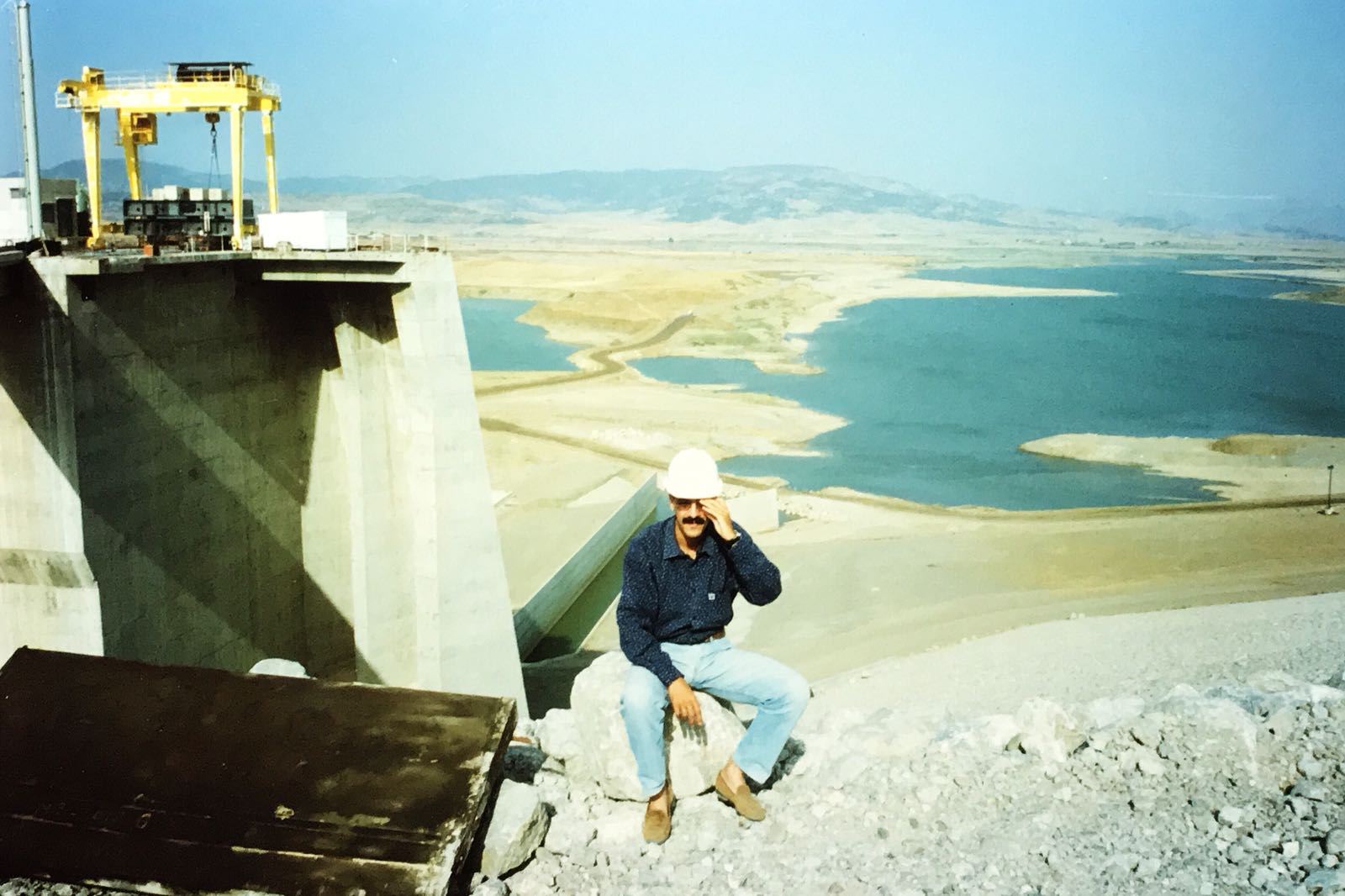 My dad, Khalid Hsain, was an engineer during the construction of the second ever dam on the African continent in Al Wahda, Morocco in 1996.
