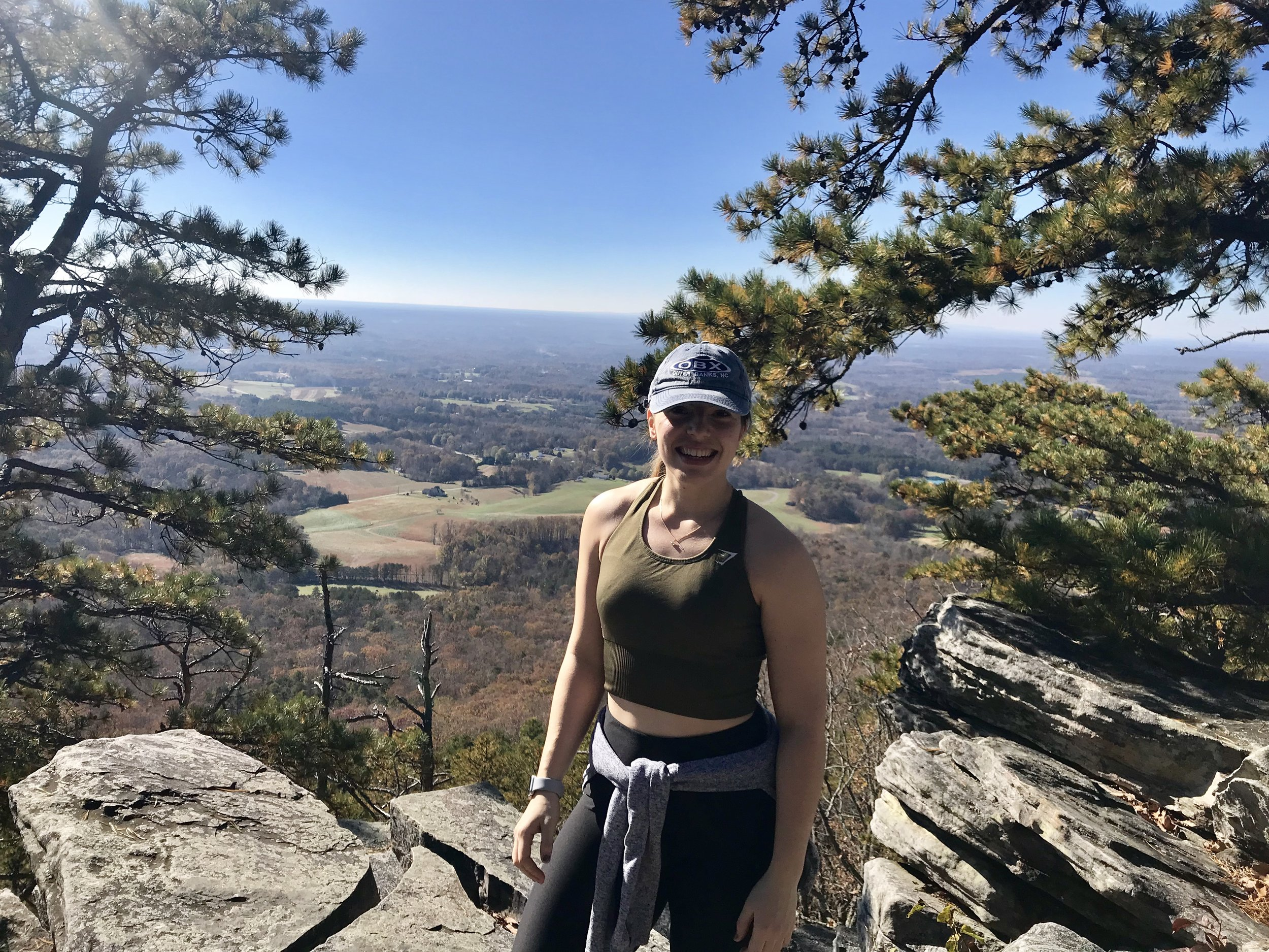 A hike to Pilot Mountain, NC in October 2018.