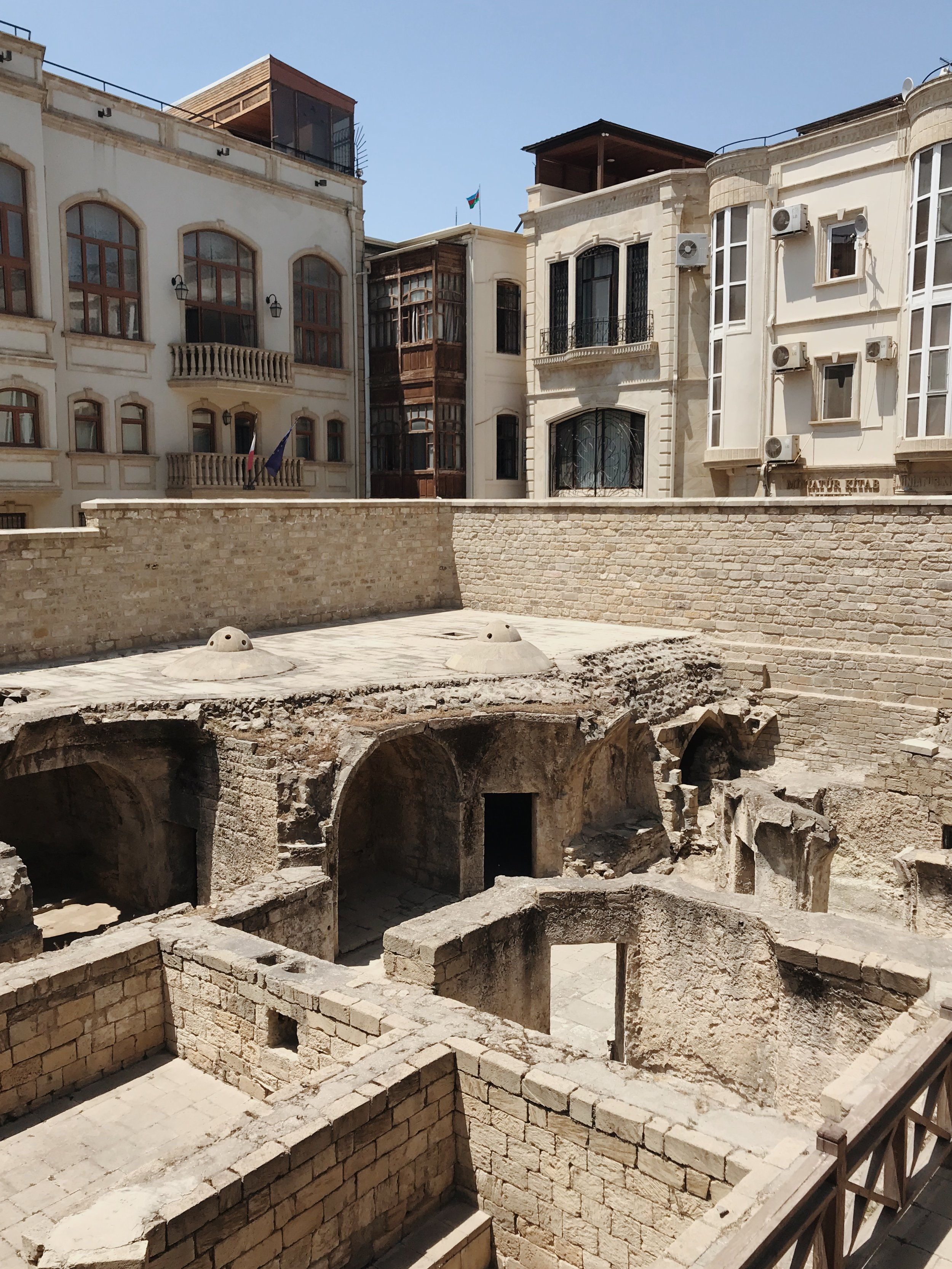 Ruins of the Shirvanshahs bathhouse where my aunt would play hide-and-seek as a kid.